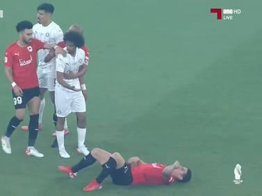 James protagonizó un momento de calentura en la final de la Copa del Emir